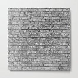 Vintage Brick Wall Metal Print