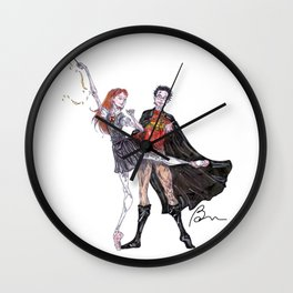 Harry and Ginny Wall Clock
