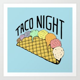 Ice Cream Taco Night Art Print