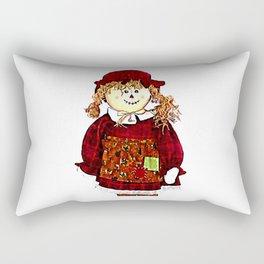 Strawgirl jGibney The MUSEUM Society6 Gifts Rectangular Pillow