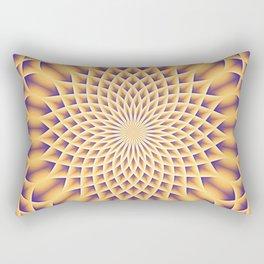 LOTUS FLOWER MANDALA salmon violet Rectangular Pillow