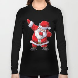 Christmas Shirts for Boys Kids Dabbing Santa Xmas Men Gifts Long Sleeve T-shirt