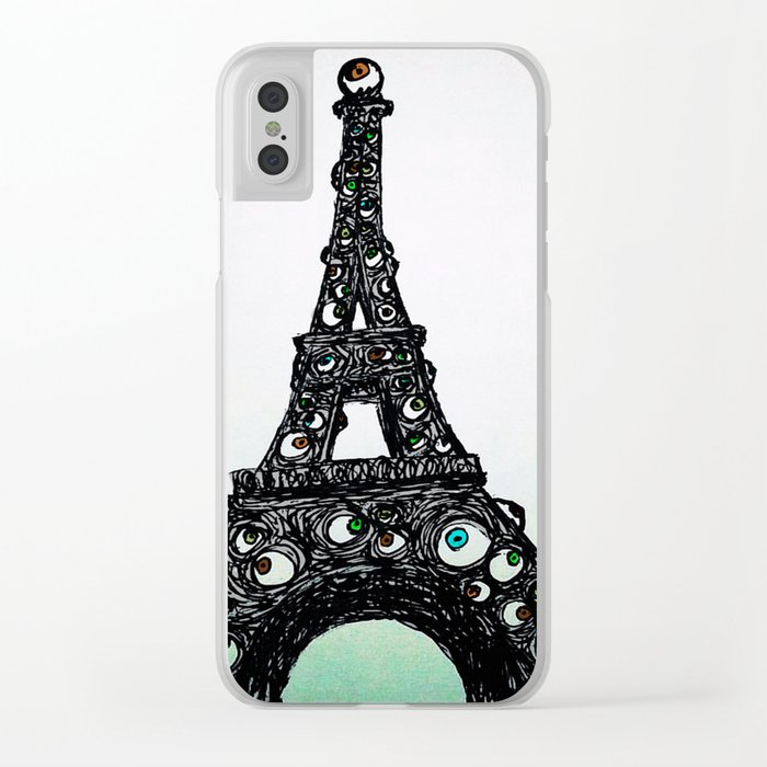 Eyeful Tower Color Clear iPhone Case