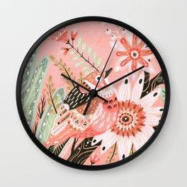 Little Pink Bird Wall Clock