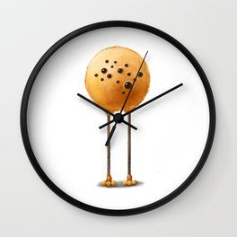 OLEG the orange monster Wall Clock