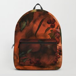 Red Berry Tree at Sunset Backpack