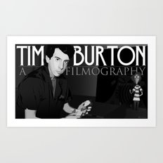 Tim Burton Young Art Print