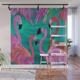 Love My Flamingos Wall Mural
