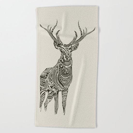 Polynesian Deer Beach Towel