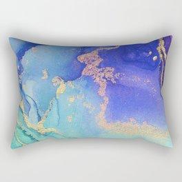 Golden Waves - Abstract Ink - Part 2 Rectangular Pillow