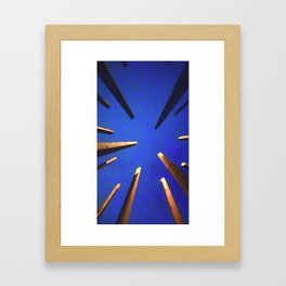 Bars and Blues Framed Art Print