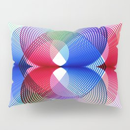 Abstract geometric colorful blue red Pillow Sham