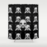 skeletor Shower Curtains featuring Skeletor by Mountain View Art
