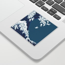 Waves Llama Sticker
