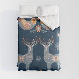 Nordic Winter Blue Comforters