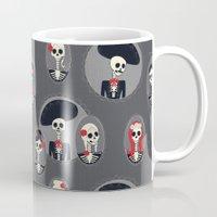 dia de los muertos Mugs featuring Dia de Los Muertos by Julie's Fabrics & Thingummies