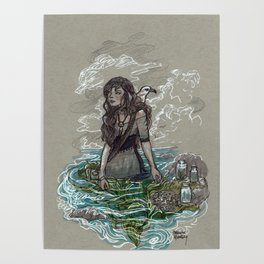 The Sea Witch and Her Sea Gull Poster