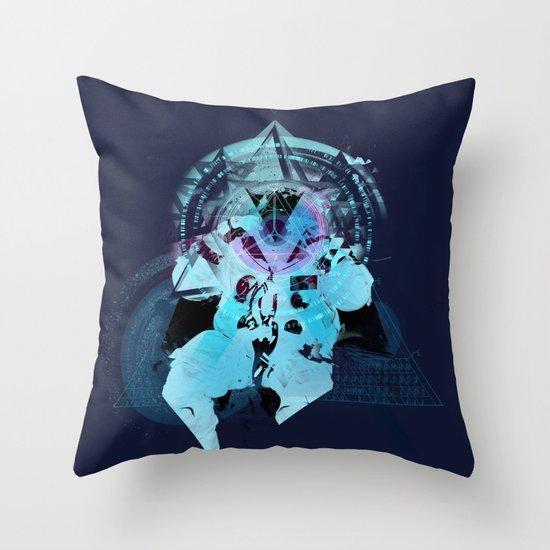 Illuminati Astronaut Throw Pillow