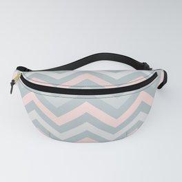 Blush pink and light grey chevron pattern  Fanny Pack