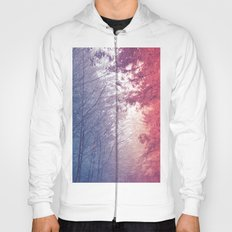 Forest Blue Mountain Fog Trees Hoody