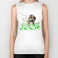 beagle Biker Tanks featuring Beagle by MinnaEleonoora