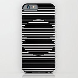 Optical Hypnotic Illusion 4 - Black & White iPhone Case