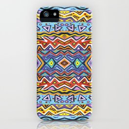 Colorful Life Tribal Pattern iPhone Case
