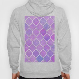 Pink and purple glass Moroccan print Hoody