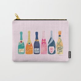 Champagne Bottles - Pink Ver. Carry-All Pouch