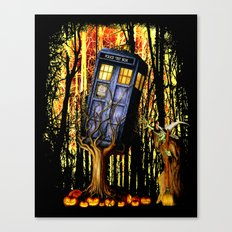 Halloween Tardis doctor who captured by witch iPhone 4 4s 5 5c, ipad, pillow case, tshirt and mugs Canvas Print