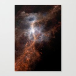 the hunter becomes fire | space #08 Canvas Print