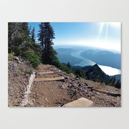 Above Lake Cushman Canvas Print