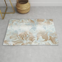 Watercolour in Blue Gold Rug