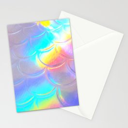Mermaid Sheen - Iridescent Sea Scales, Mother of Pearl, Ocean Rainbow Fish Stationery Cards