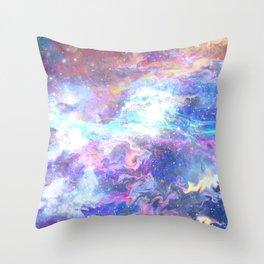 Liquid space Throw Pillow