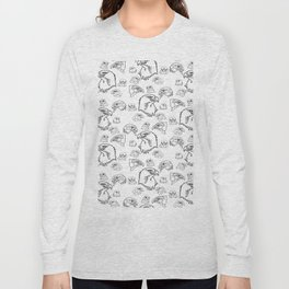 Birds of Prey - black on white Long Sleeve T-shirt