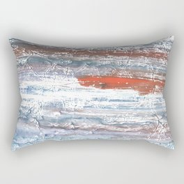Orange blue stained watercolor pattern Rectangular Pillow