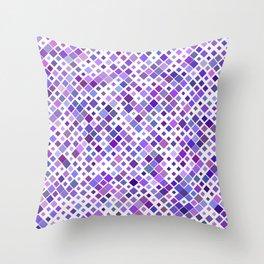Purple Squared Throw Pillow