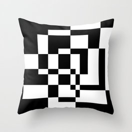 Black and white geometry Throw Pillow