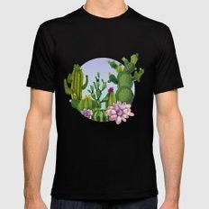 Cactus & Succulents Mens Fitted Tee Black MEDIUM