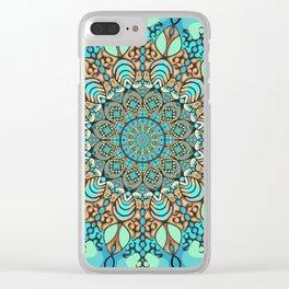 Zentangle Mandala 180218 - Bohemian Mandala Clear iPhone Case
