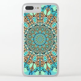Zentangle Mandala 180218 - Bohemian Mandala Clear iPhone Case
