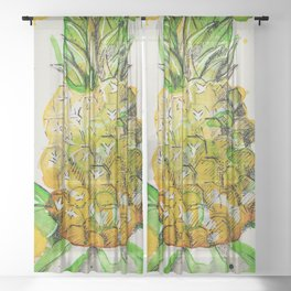 Pineapple Drip Sheer Curtain