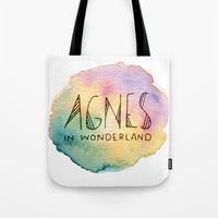 agnes cecile Tote Bags featuring Agnes in Wonderland by Agnes in Wonderland