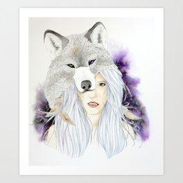 Wolf Totem - Totem Series Art Print