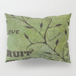 Faith Religious Art---Fruit of the Spirit---Bible Scripture Galations 5:22 by Saribelle rodriguez Pillow Sham