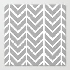 GRAY THIN CHEVRON Canvas Print