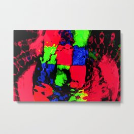 Electric Canvas A Metal Print