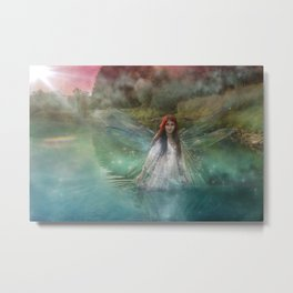 Dragonfly Fairy Metal Print