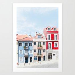 Colorful Buildings Art Print